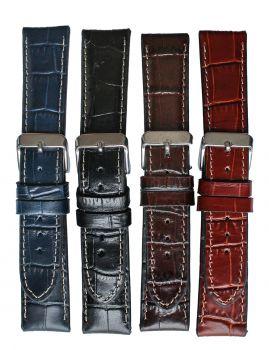 Horlogeband 22mm 61324 crocoprint