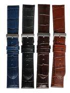Horlogeband crocoprint 16mm 61248D 27 d.bruin