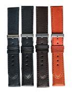 Horlogeband buffelprint 18mm 61329 10 zwart XL