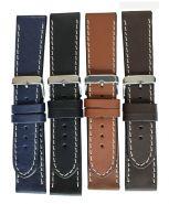 Horlogeband stoer 28mm 61330 23 m.bruin