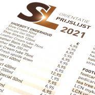 SL oriëntatie prijslijst 2021