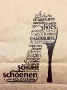 """*** Papier draagtas """"Schoenen.."""" actie à 2 dozen"""