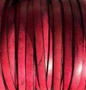 Gladde lederband op rol 5mm