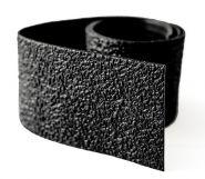 Rubber spatrand 5 x 74cm zwart Vitamin