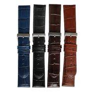 Horlogeband Croco 62248C 12mm zilver