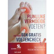 "Poster ""gratis voetencheck"""