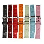 Horlogeband crocoprint 18mm 91205C 08 grijs
