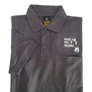 "Polo shirt ""keeps you walking"" lange mouw"